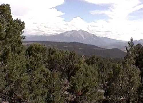Mt. Sopris from Sopris Ranch (near Basalt)