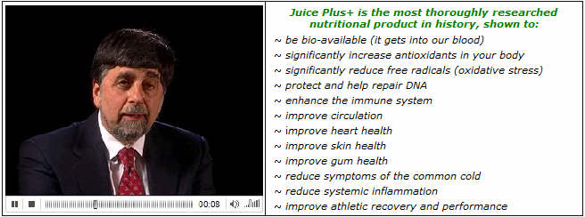 Click here to watch a Dr. Odom on nutrition and Juice Plus+