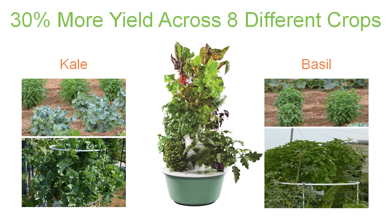 Tower Garden Yield Study At